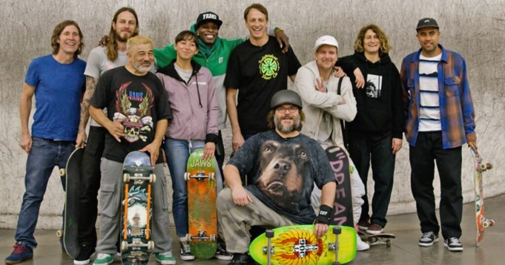 Cast of Tony Hawk's Pro Skater, which includes some of the best skateboarders of all time.