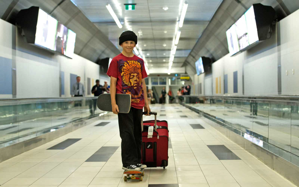 can you bring a skateboard on a plane